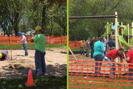 New Play Structure in Sheboygan Falls Woodview Park